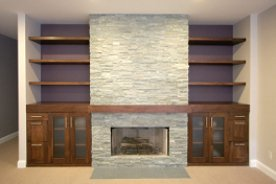 Haki's Fireplace and Built-Ins