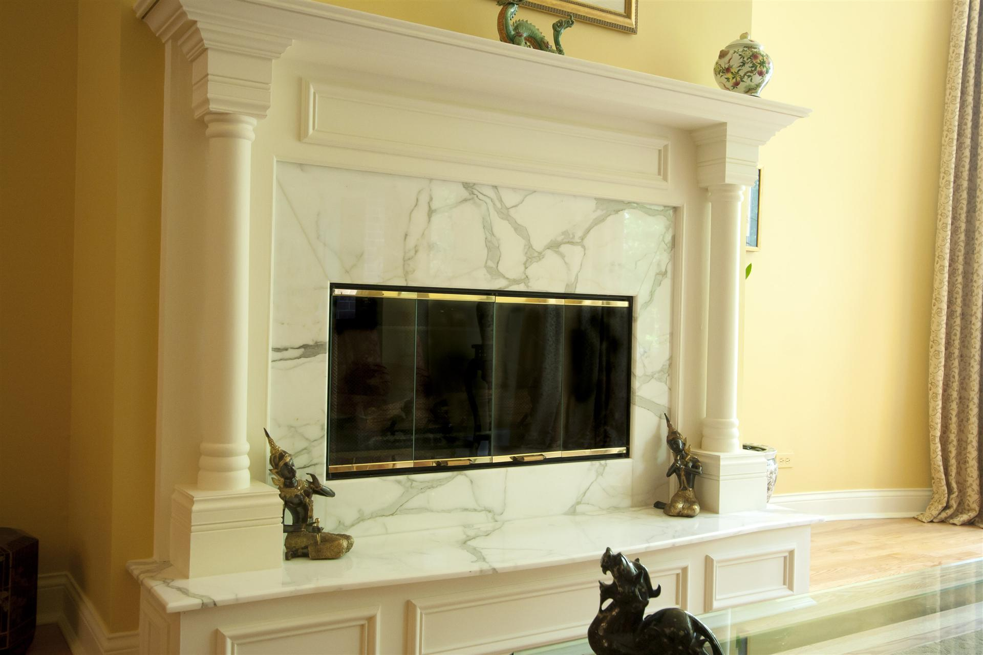 classic marble fireplace remodel   Stratagem