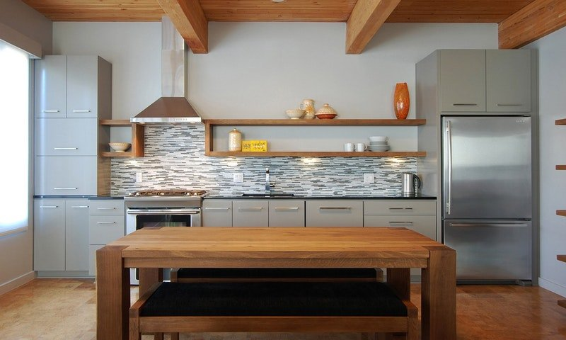 habitar design, stratagem construction, one wall kitchen, pullman kitchen