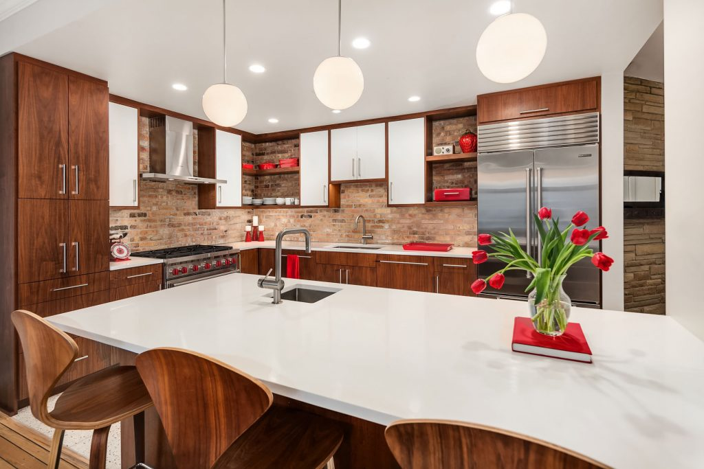 peninula kitchen, kitchen design, kitchen remodel, kitchen construction, Mackenzie Cain, interior design