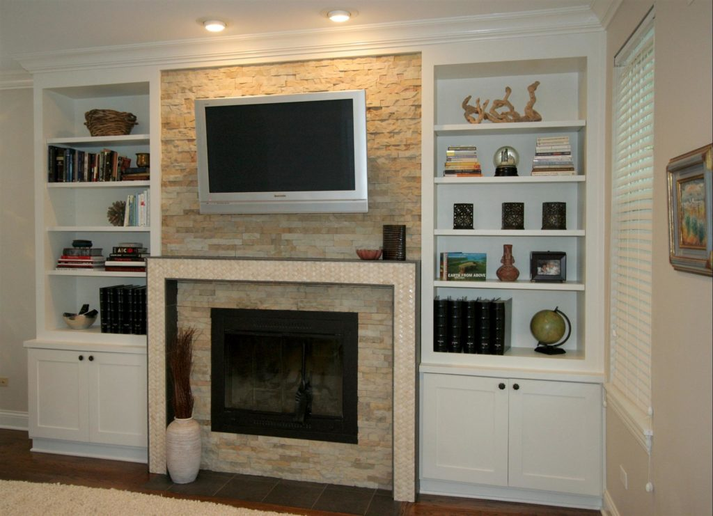 Fireplace Shelving Built In
