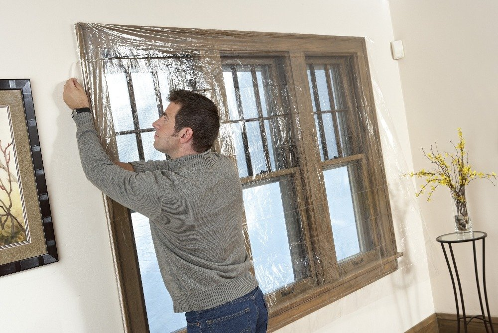 Tape or mask off a door or window with vinyl or poly tape youtube.