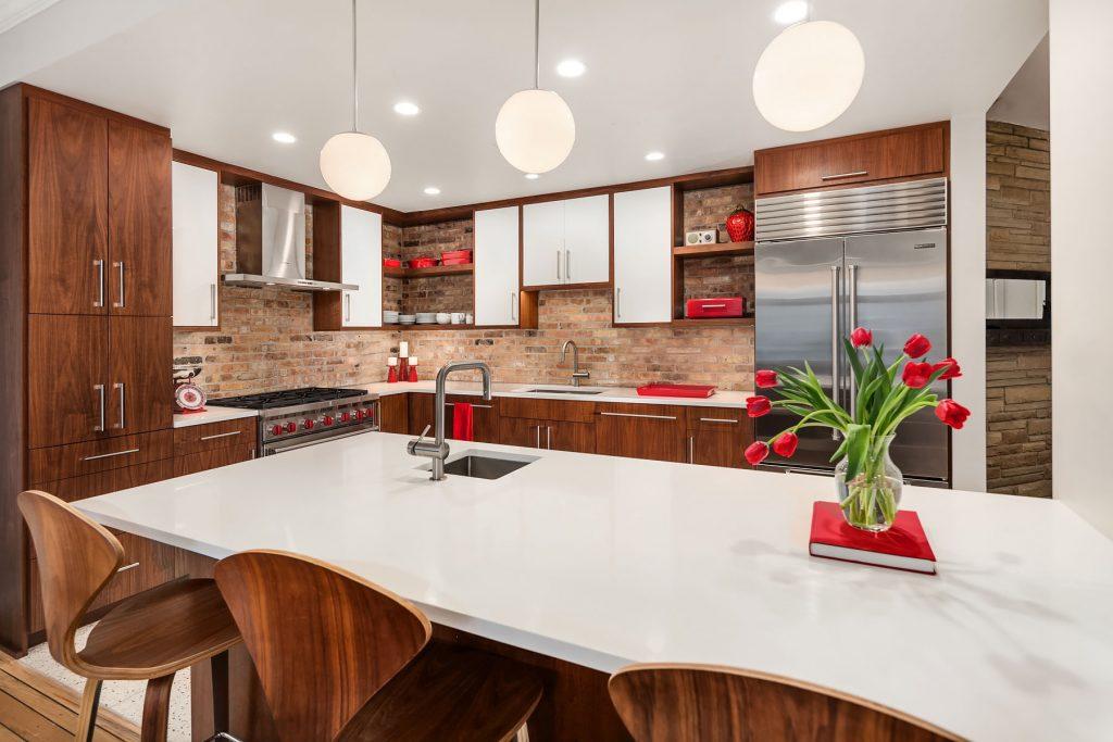 peninula kitchen, kitchen design, kitchen remodel, kitchen construction, Mackenzie Cain, interior design