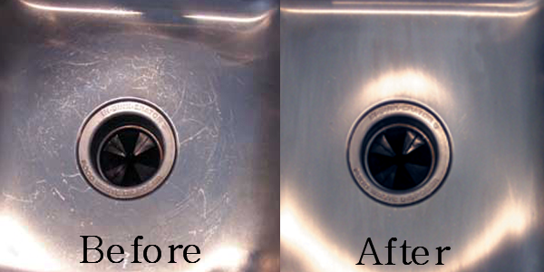 remove scratches, scratch removal, stone countertop, scratched stone, habitar design, construction tips, stainless steel scratches, scratched refrigerator, scratched sink, scratched stainless steel